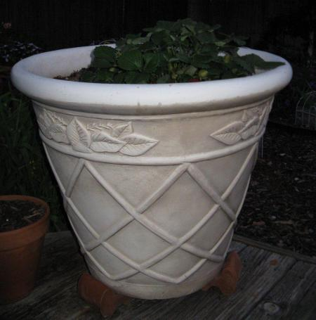 "Large Planter (recycled) 23""d x 20""h"