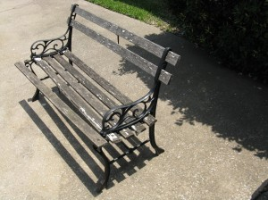 This is the bench before I recycled it